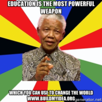 Education the most powerful weapon